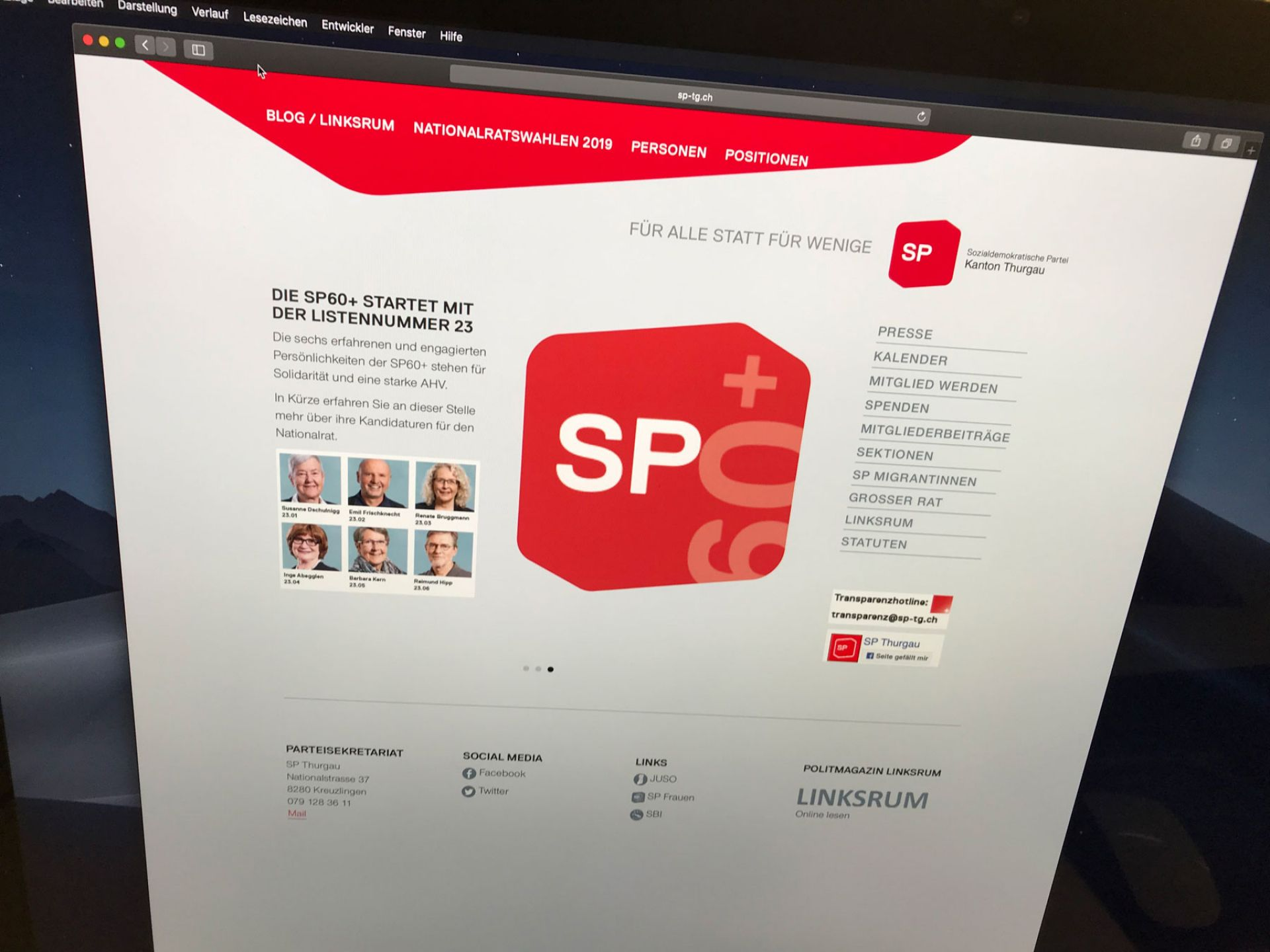 SP Thurgau Wordpress Support