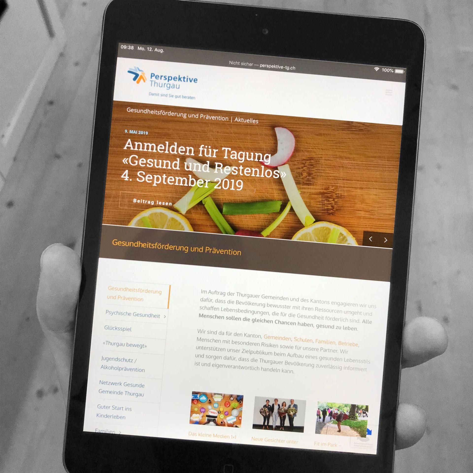 Perspektive Thurgau Wordpress Support