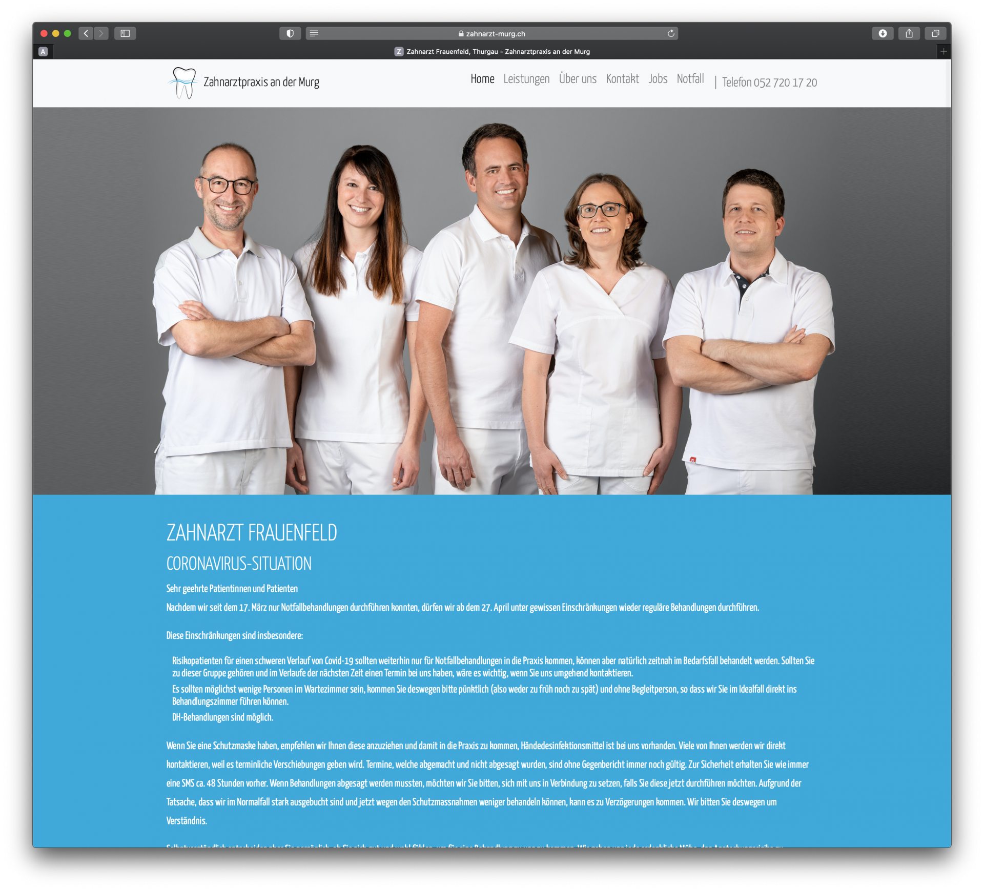 Zahnarzt Murg in Frauenfeld